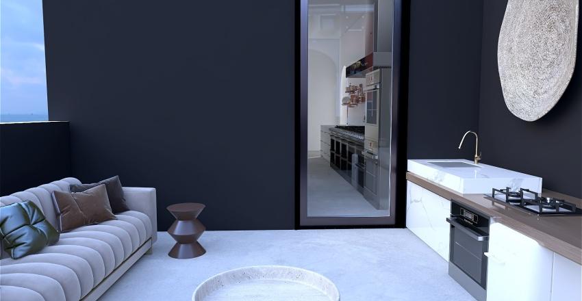 Modern Restaurant Interior Design Render
