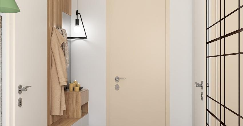 Simple appartment Interior Design Render