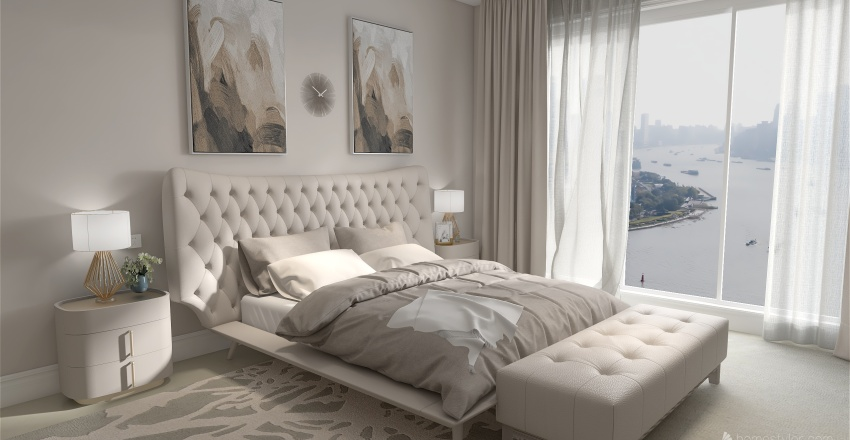 New classic bedroom for the newlyweds Interior Design Render
