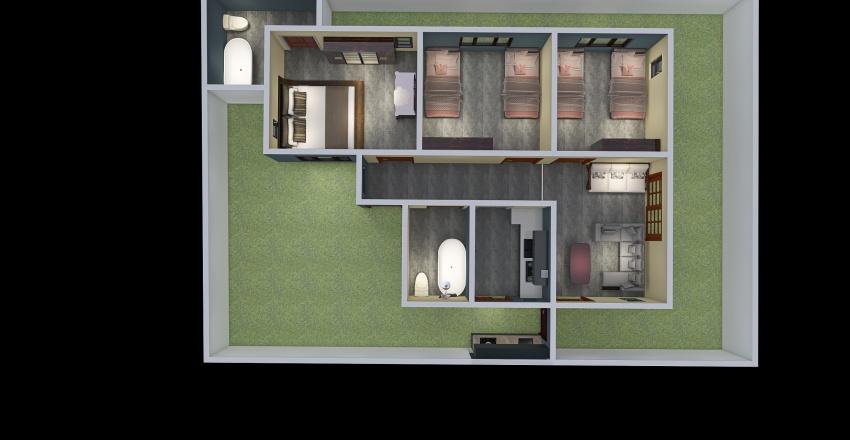 Anix Eco Mum and Dad Interior Design Render