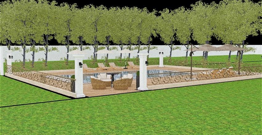 small swimming pool Interior Design Render