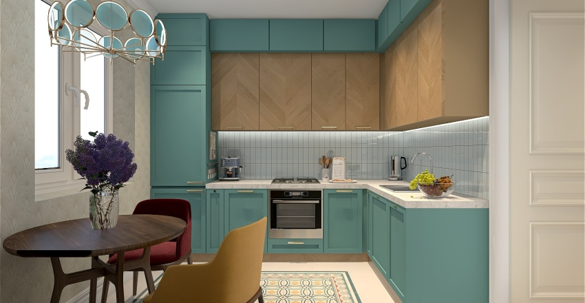 Flat in Russia Interior Design Render