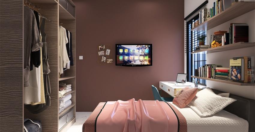 KitnetA78 50m² Interior Design Render