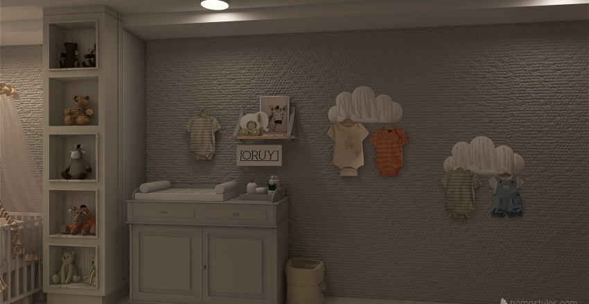 Brianna´s room Interior Design Render