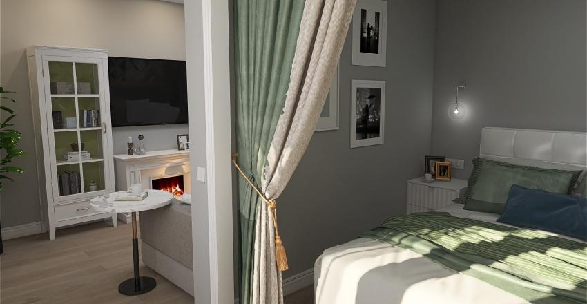 гостиная спальня Interior Design Render