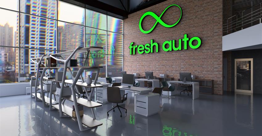 # коммерческий;   frech auto Interior Design Render