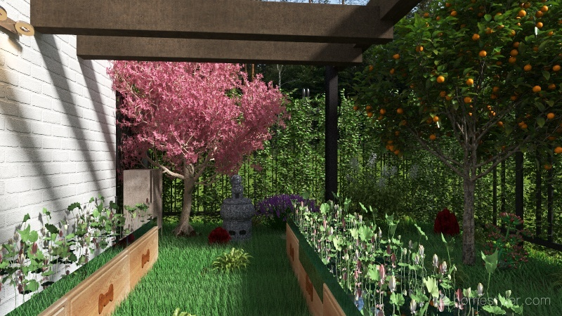 Veggies Garden Interior Design Render