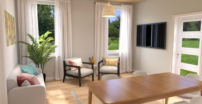 Small lake house Interior Design Render