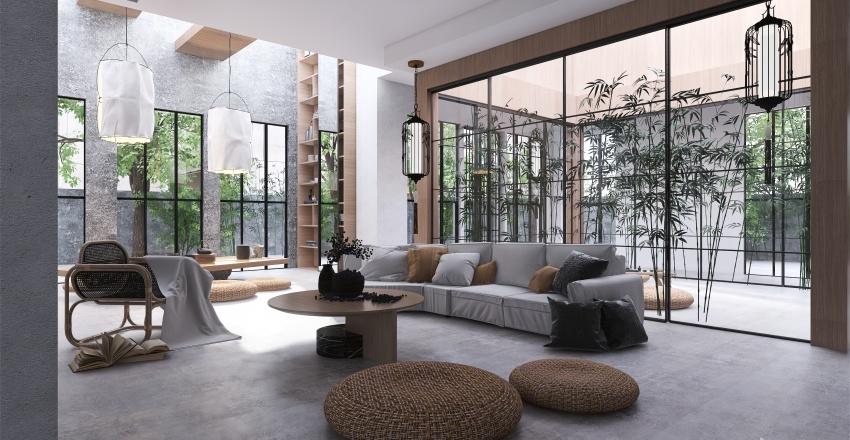   MODERNIZED JAPANESE HOME   Interior Design Render