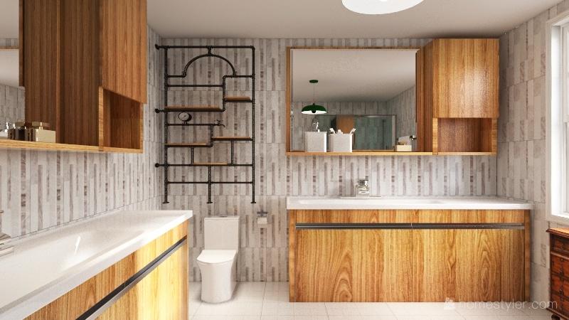 Loft/Quarantine Room Interior Design Render