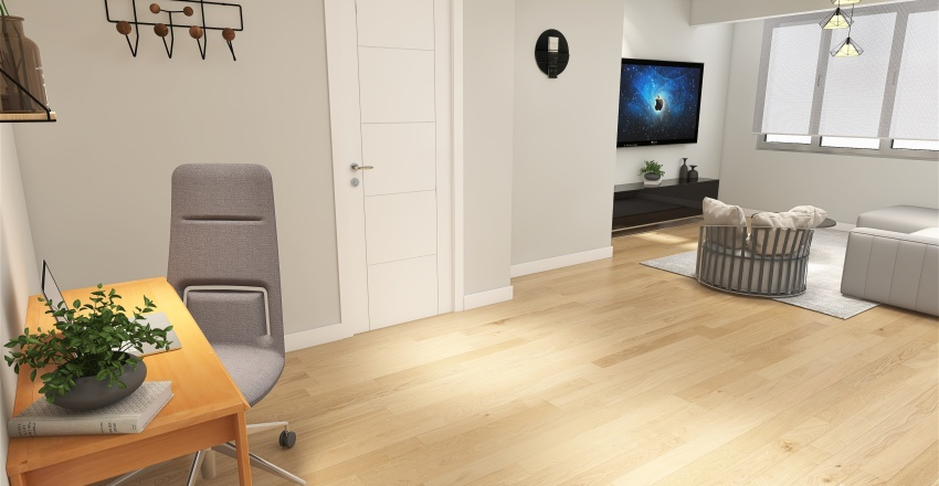 MUNTANER  REFORMA  Interior Design Render