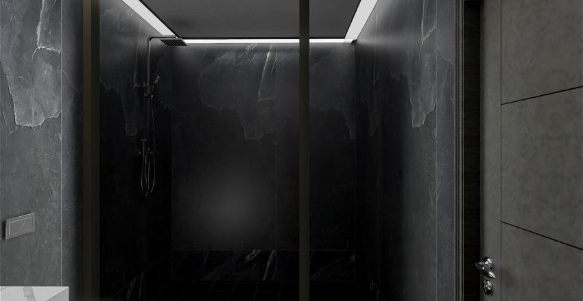 1 Bedroom Apt. with Balcony Interior Design Render