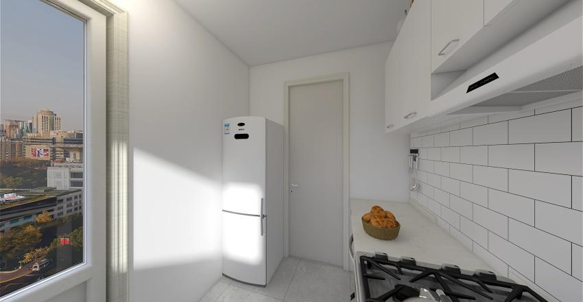 ocina 4 muebles marrones Interior Design Render