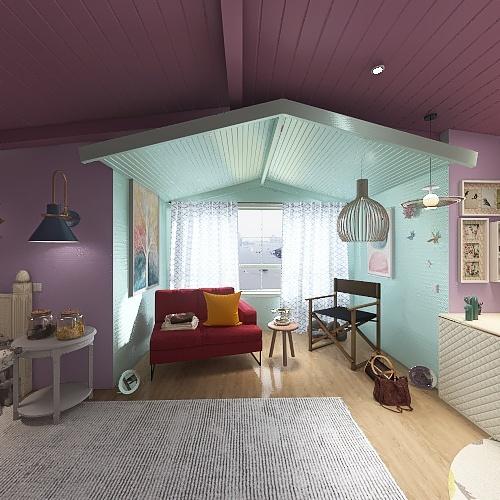 cameretta artistica Interior Design Render