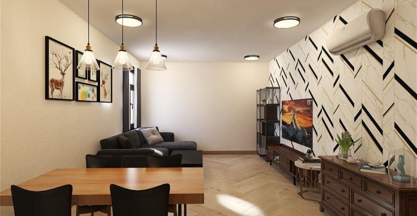 Tây Nguyên Plaza Apartment Interior Design Render