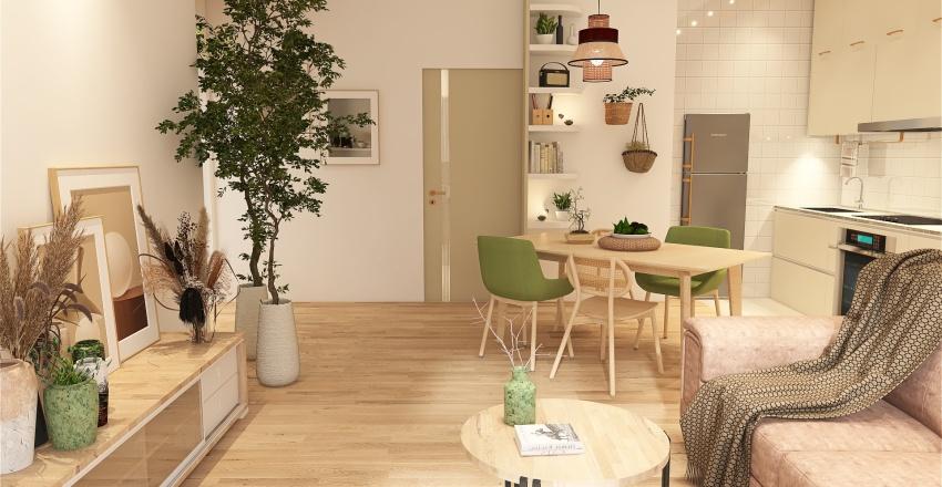 Comfy family home Interior Design Render