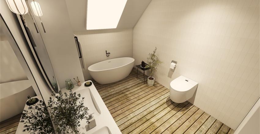 Łazienka u góry Interior Design Render