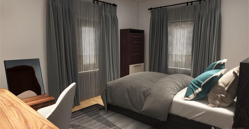 Modern Teen Bedroom Interior Design Render