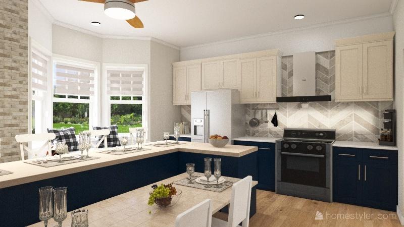 Bad Kitchen  Re-design Interior Design Render