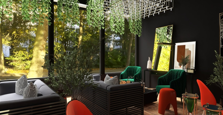 Forest Oasis  Interior Design Render