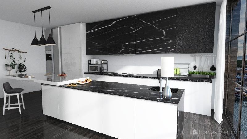Rustic Apartment Interior Design Render