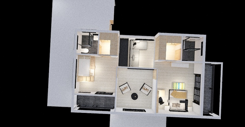 La Adelita3 Interior Design Render
