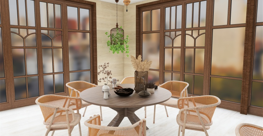 Comedor oriental Interior Design Render