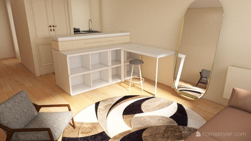 Appartement Place des reflets Interior Design Render