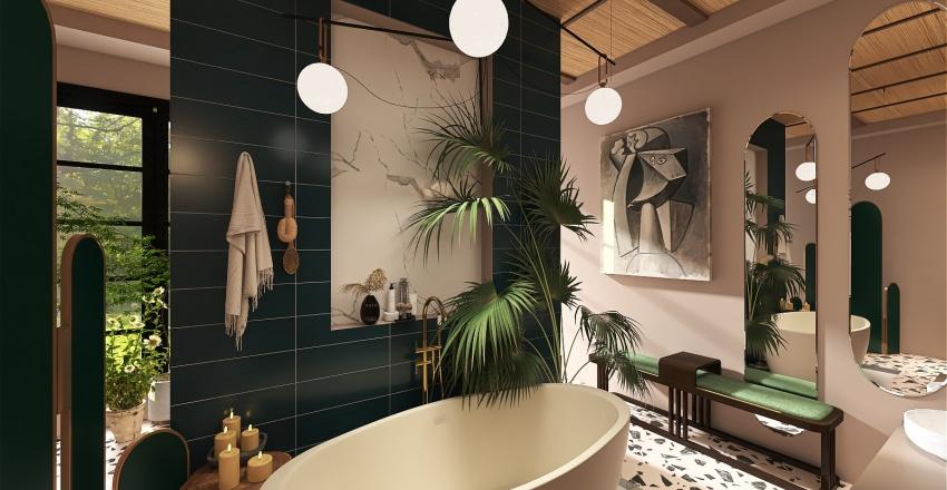 Eclectic - En Suite Interior Design Render