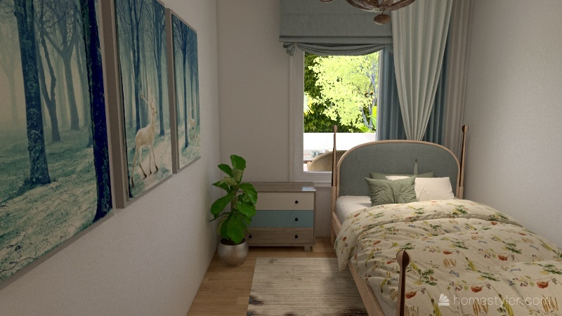 cozy house by the beach Interior Design Render