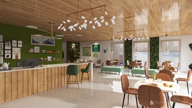 Projeto Restaurante 1 Interior Design Render