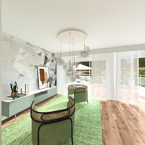 Viletta a Schiera Interior Design Render