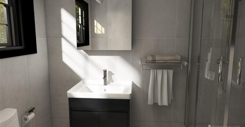 Living & Dining Room + Kitchen Remodel Interior Design Render