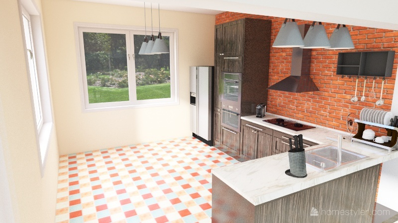 Primeira casa Interior Design Render