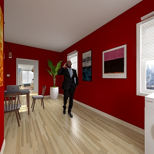 Middle Class House Style Interior Design Render