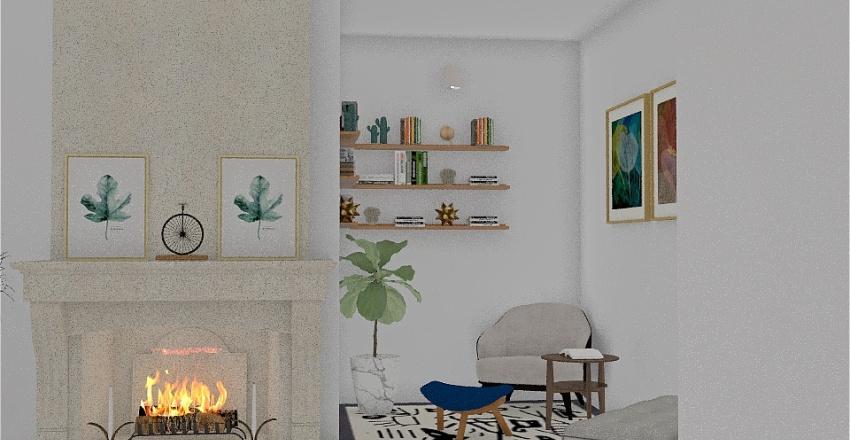 Another reading nook design. Interior Design Render
