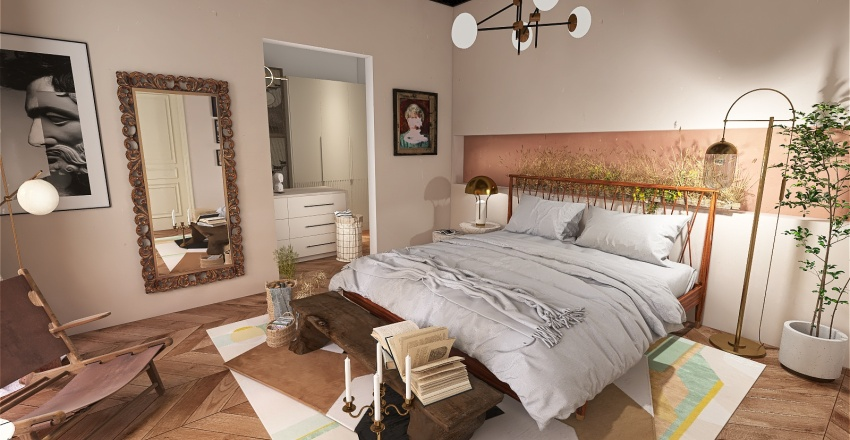 Eclectic - Master Suite Interior Design Render
