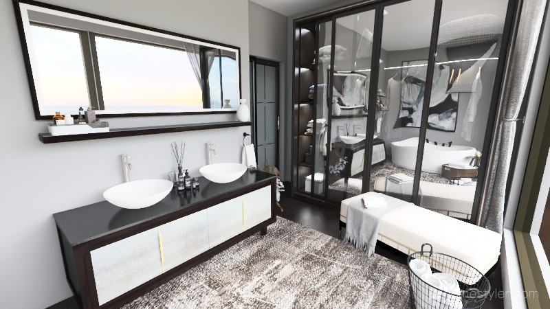 ฺBathroom Interior Design Render