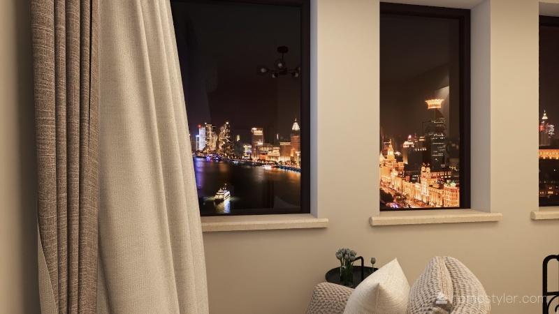 StateQ Hotel Interior Design Render