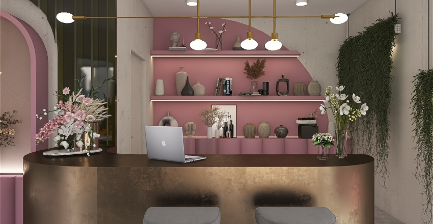 Flower shop Interior Design Render