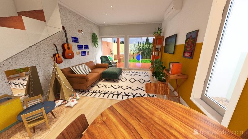 Sala modernista Interior Design Render