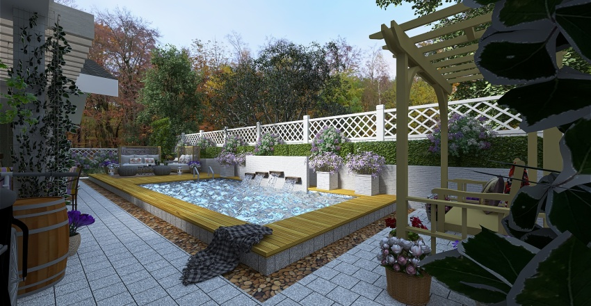 Summer Countryside Home Interior Design Render