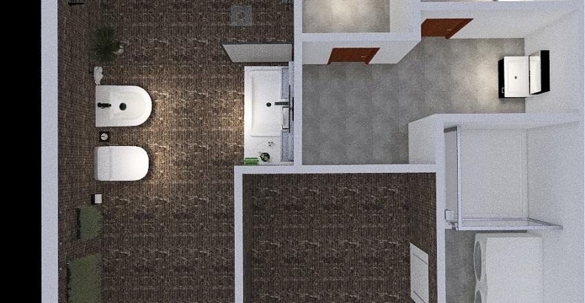 VIP Санузел 0 этаж Покровка Interior Design Render