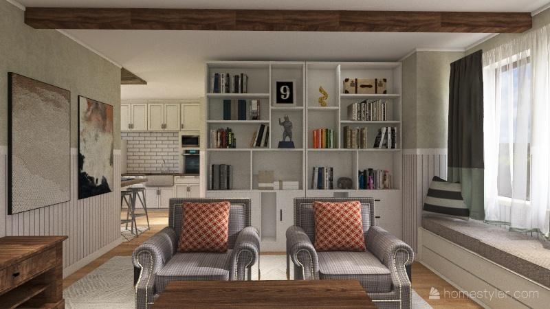 Unsellable house, re-design Interior Design Render
