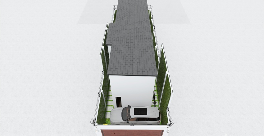 Casa de 2 pisos - 1ER. y 2DO. PISO Interior Design Render