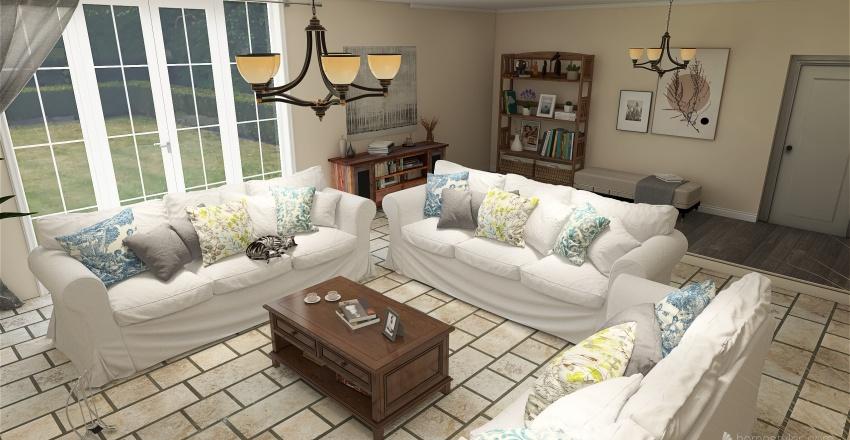 Family Room Interior Design Render