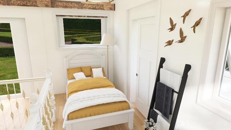 open plan house Interior Design Render