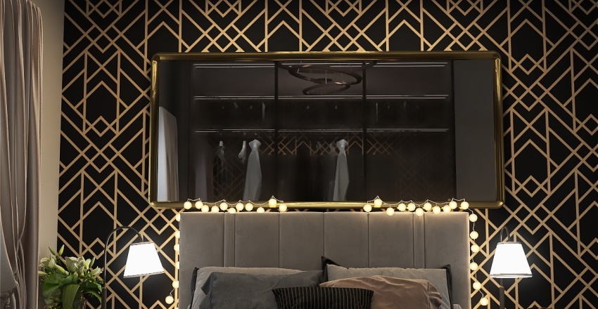 Quarto de luxo Interior Design Render