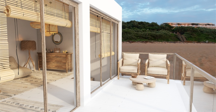 Small vacation beach house Interior Design Render