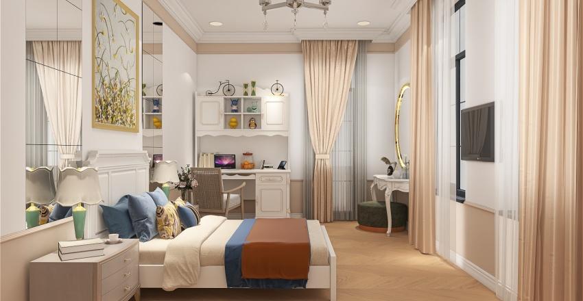 Renessans Palace - Girl's bedroom General Interior Design Render